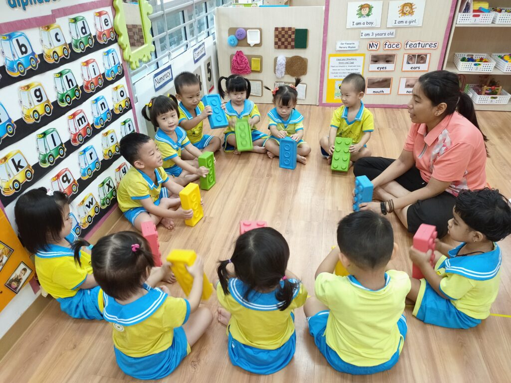 Children having fun with music