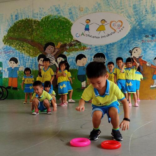 children playing sports